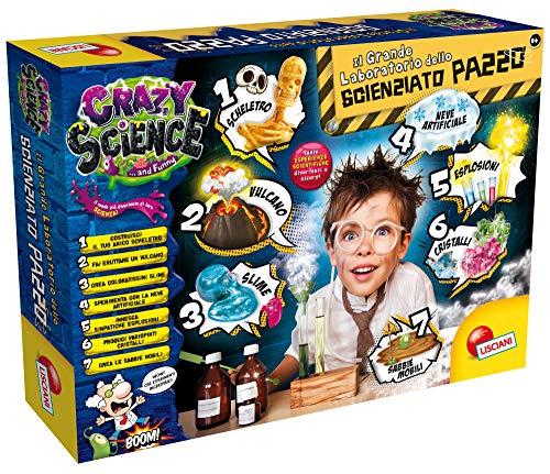 Liscianigiochi- Crazy Science Il Grande Laboratorio dello Scienzia, Multicolore, 68654