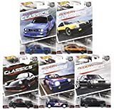 Hot Wheels Car Culture Modern Classics Set of 5 Real Rider Collectible Die Cast Toy Model Cars