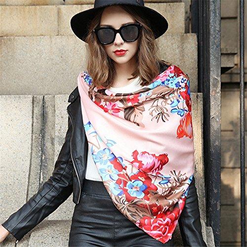 Le printemps et l'automne serviette chaude carré inspiré tous-match art femme soie Décoration multifonction 135cm*135cm,389-1 389-1
