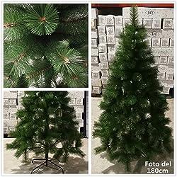 REBAJA -40% árbol de Navidad artificial pino de 2 tonos de verde Envio Gratis* C/Soporte metálico 90cm-210cm (120CM 110 RAMAS)