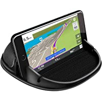 XCLUSY Mobile Mount Silicone Slip Free Phone Holder for Car Dashboard Compatible with iPhone, Samsung, Android…