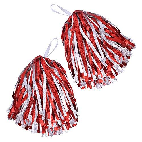 Pom Dance Kostüm - Bristol Novelty BA1320Bommel, für Mädchen, Rot/Weiß, Einheitsgröße