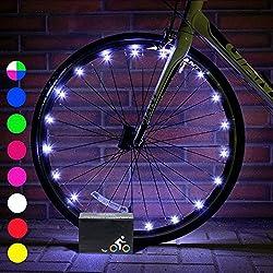 My-My Cool Fun Toys para niños Boys Girls, luces de rueda de bicicleta para niños Toys para niños de 5-14 años de edad Toys for 5-14 Year OldGirls Gifts para niños de 5-14 años de edad Boys White MMUKDCD06
