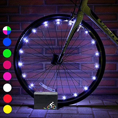 DMbaby Outdoor Toys for 5-13 Year Old Boys Girls, Water Resistant LED Bike Wheel Spoke Light Cool Popular Christmas Best Gifts for 5-14 Year Old Boys Girls Stuffer Fillers for Boys Kids DMUKBL06