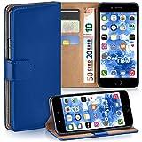 moex Apple iPhone 7/8 | Hülle Blau mit Karten-Fach 360° Book Klapp-Hülle Handytasche Kunst-Leder Handyhülle für iPhone 7/8 Case Flip Cover Schutzhülle Tasche