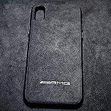 Vemore Garcon Alcantara iPhone X Hülle mit 3D Sportwagen Logo AMG, M, RS, Schutzhülle mit original Alcantara für Apple iPhone X/Xs 2019 (AMG)