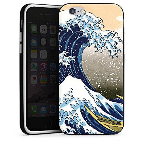Apple iPhone 5c Housse Étui Protection Coque Katsushika Hokusai Japon Art Housse en silicone noir / blanc