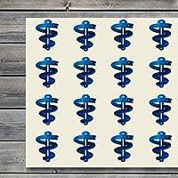 Aesculapius Medicamento Snakes Farmacia Farmacéutica Pegatinas de manualidades, 44 pegatinas a 1,5 pulgadas, gran forma para álbumes de recortes, fiestas, sellos, proyectos de bricolaje, artículo 300584