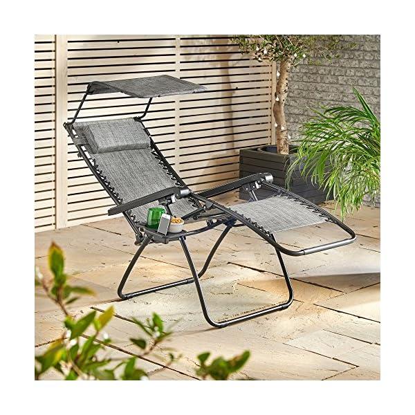 VonHaus Zero Gravity Chair with Canopy