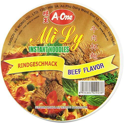 A-ONE Instant-Cup-Nudeln, Rind, 65 g Becher