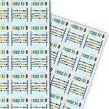 Einschulungs Geschenkpapier Set (4 Bogen) | Dekorpapier mit Abakus
