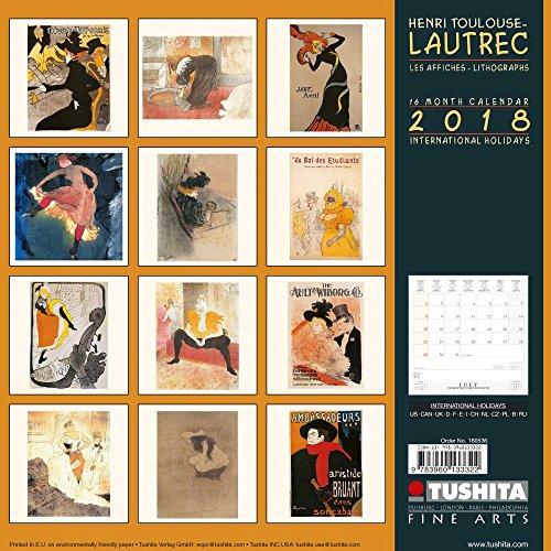 Henri Toulouse-Lautrec – Lithographs 2018: Kalender 2018 (Tushita Fine Arts) (Henri-kalender)