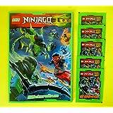 Panini - LEGO Ninjago Sticker-Set Sammelalbum + 5 Booster Packungen Sammelsticker 25 Sticker - Deutsche Ausgabe