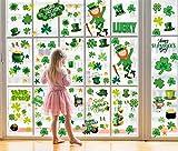 Sayala 360Pezzi St Patrick's Day - Adesivi statici da Parete, Finestra Adesivi di San Patrizio Trifoglio da Parete Cling per Decorazioni Feste Irlandesi