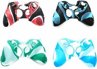 Hipipooo 4 Pack Soft Camouflage Silikon Schutzhülle Skin für Xbox 360 Controller