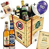 60. Geburtstag Geschenk für Freund - Bier Geschenk Box + gratis Geschenkkarten + Bierbewertungsbogen. Brauerei Eller + Schlappeseppel + Tegernseer + … Bierset + Biergeschenk. Bier Geschenke für Männer. Besser als Bier selber machen oder selbst brauen: Geburtstagsgeschenk Geburtstagsbier geschenkset freund männergeschenke geschenkideen für ihn geschenke Geburtstagsgeschenk 60 Geburtstagsgeschenke für Männer für Freund zum 60 Biergeschenke -