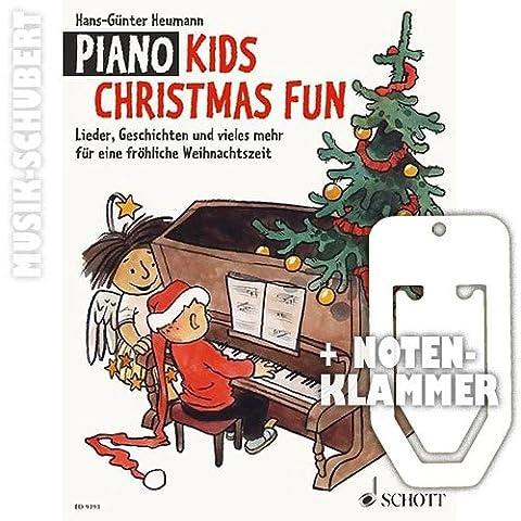PIANO KIDS Christmas fun inkl. praktischer Notenklammer - das Weihnachts-Spielbuch zur beliebten Klavierschule für Kinder mit Liedern, Geschichten und vielem mehr für eine fröhliche Weihnachtszeit (broschiert) von Hans-Günter Heumann (Noten/Sheetmusic)