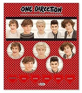 "One Direction ""Phase 3marques Sticker Lot de 12Pièces"