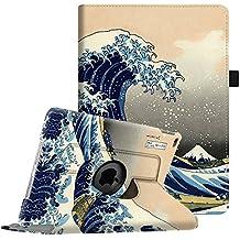 Fintie iPad Air 2 Funda - Giratoria 360 grados Smart Case Funda Carcasa con Función y Auto-Sueño / Estela para Apple iPad Air 2 (iPad 6th Generación 2014 Versión) 9.7 Inch iOS Tableta, Rough Sea