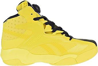 Reebok Men's Shaq Attaq Modern Basketball Shoes Yellow Spark/Black Bd4602 Yellow Spark/Black 8 D(M)