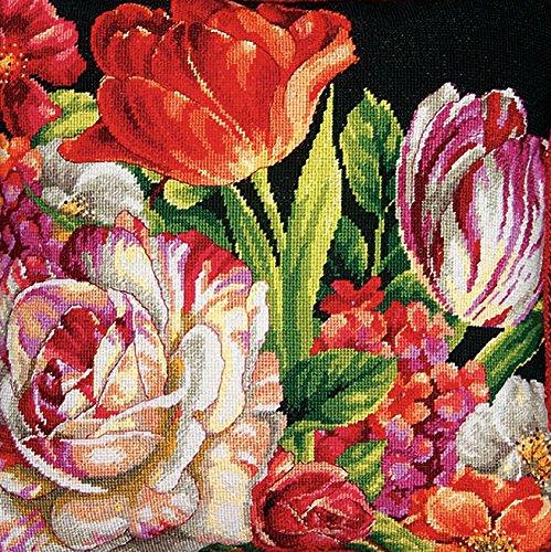 Dimensions D71-20079 Gobelinstickerei, Bouquet auf schwarz