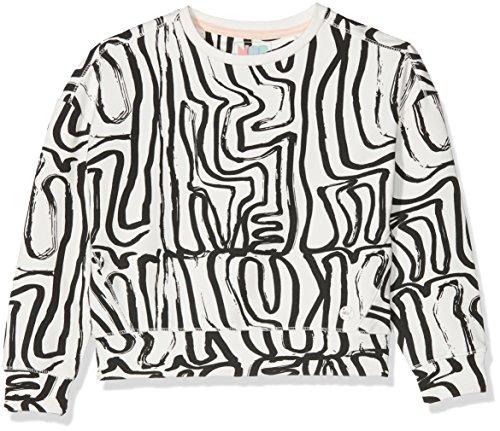 NOP Mädchen G Sweater Ls Lynbrook AOP(Pullover), Mehrfarbig (Off White C010), 140 Preisvergleich