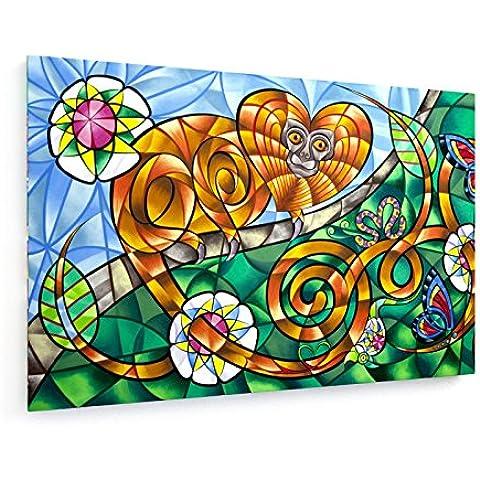 Brasiliano scimmia selvatica - 75x50 cm - weewado - Belle stampe d'arte tela - arte della parete