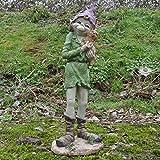 Alvara Pixie Extra großer stehender mit Katzen Skulptur Magical Mystery Hohe Qualität Garten Decor Figuren Elf & Fairy Kinder, Höhe 63cm