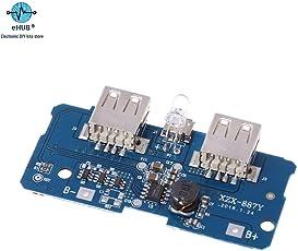 eHUB 5V 2A Power Bank Charging Module Circuit Board Step Up Boost Power Supply Module 2A Dual USB Output 1A Each