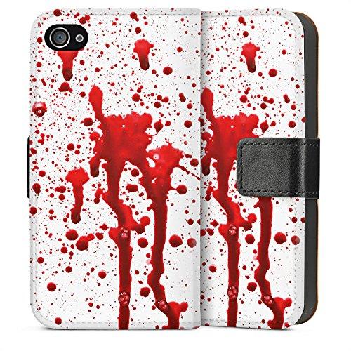 Apple iPhone SE Housse Outdoor Étui militaire Coque Sang Halloween Gothique Sideflip Sac