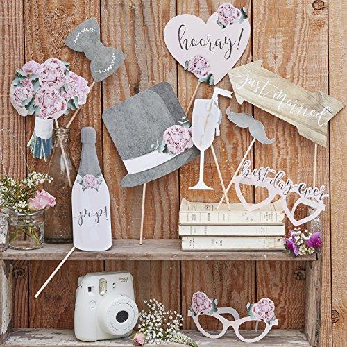 Ginger Ray Hochzeit-Fotorequisiten, Retro, Vintage, rustikal, Landhaus-Stil (Booth Hochzeit Photo)