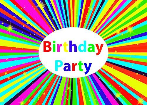 (Kaleidoskop-Thema-Geburtstagsfeier-Einladungen Einladungen Kinder Kinder Mädchen/Jungen i011)