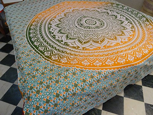 Indian Mandala Wall Hanging Tapestry, Hippie Hippy Tapestries, Feather Peacock Print Tapestry, Cotton Handmade Badsheet, Twin Size Bedding Bedspread, Picnic Beach Sheet, Table Cloth, Decorative Wall Hanging
