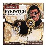 shoperama Steampunk Augenklappe Pirat Kostüm Eyepatch Zubehör Accessoire Totenkopf Kompass