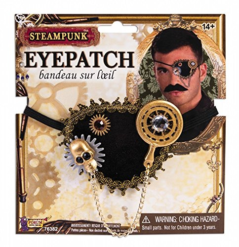 Kostüm Viktorianischen Piraten - shoperama Steampunk Augenklappe Pirat Kostüm Eyepatch Zubehör Accessoire Totenkopf Kompass