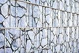 Angebot - Exklusiv - Material nur bei uns - Im Set 10 x naturgetreue Sichtschutzstreifen bedruckt - wie echt - kein Textil, sondern PVC Hartschaum - 1 mm - Oberfläche total unempfindlich und einfach einzuflechten - Zaunstreifen bedruckt - graue Steine - wie echte Gabione - bedruckt - Steinoptik - Gabionenoptik - Sichtschutzstreifen für Stabgitterzaun - Zaunstreifen Metallzaun - Sichtschutz für Doppelstabmattenzaun inkl. Versand