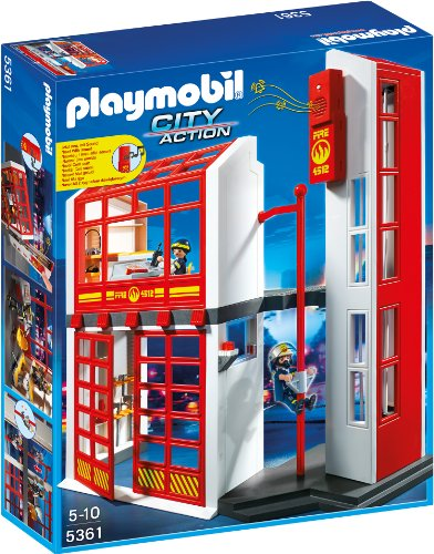 Preisvergleich Produktbild PLAYMOBIL 5361 - Feuerwehrstation mit Alarm