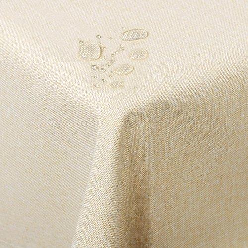 Woltu td3056ch tovaglia ovale copritavolo decorazione da tavolo tessuto in resisente impermeabile poliestere champagne