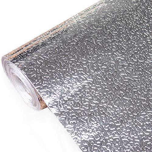 kitchen-dream Silberfolie Tapete-Küche Aufkleber Selbstklebende Küche Aluminiumfolie Aufkleber Öl Proof Wasserdichte Küchenherd Aufkleber (A, 30CM*3M) -