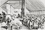 Ken Welsh/Design Pics - A Soup Kichen Serving Food To The Poor In Spitalfields London England In The 1860's. From L'univers Illustre Published In Paris In The 1868. Photo Print (91.44 x 60.96 cm)