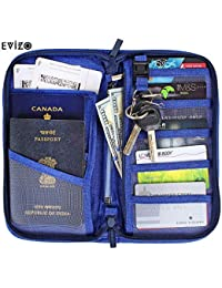 EVIZO Passport Holder, Travel Wallet Case Cover Water-Resistant Organizer Bag to Carry Multiple Passports, Money, Credit & Debit Cards, Cheque Book Storage for Men, Women and Family