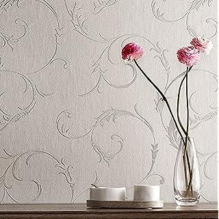 Super fresco Athena Scroll Linen Textured Grey Wallpaper