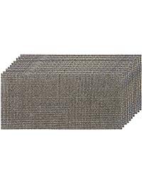 Silverline 475598 Lot de 10 Feuilles abrasives treillis 93 x 230 mm grains 4 x 40/4 x 80/2 x 120