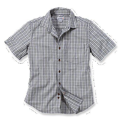 Carhartt Workwear Arbeitshemd - Slim Fit Plaid Shirt (M, Vapor Grey) (Kurzarm-arbeitshemd Popeline)