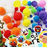 10mm Mini Pom Poms per Hobby e DIY Creativo Crafts Decorazioni da EarthSafe - 2000 PCS, Colori Assortiti