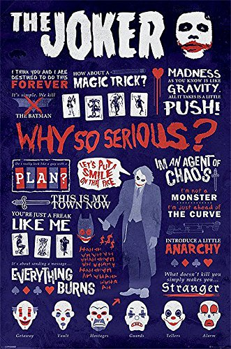 Poster Batman - The Dark Knight Citations du Joker (61cm x 91,5cm)