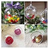 ECYC® Transparente Kunststoff Weihnachtskugel Open Bauble Geschenkboxen, 4cm