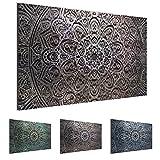 Cuadros de 70 x 40 cm - Cuadro de Mandala - Cuadro en lienzo no tejido - Imagen artística en lienzo para la pared - Impresión de arte – Imagen para la pared – Formato XXL –Más colores y tamaños en la tienda – ¡¡¡Totalmente estirados!!! ¡¡¡100 % FABRICADOS EN ALEMANIA!!! - Oriente – Abstracto - Universo 109414b