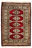 Morgenland Afghan Pakistan BUCHARA Teppich 111 x 78 cm Rot Handgeknüpft