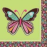 16 Servietten * FLOWER POWER * für Kindergeburtstag oder Mottoparty // Napkins Kinder Geburtstag Motto Party Hippie Girls Mädchen Mädels Blumen Muster